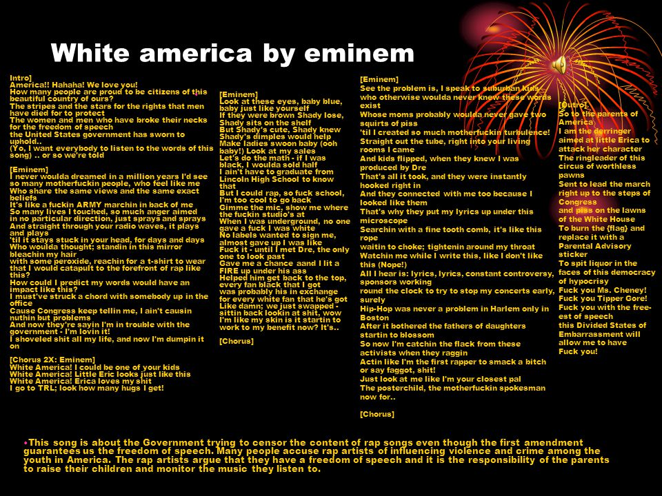 White america by eminem