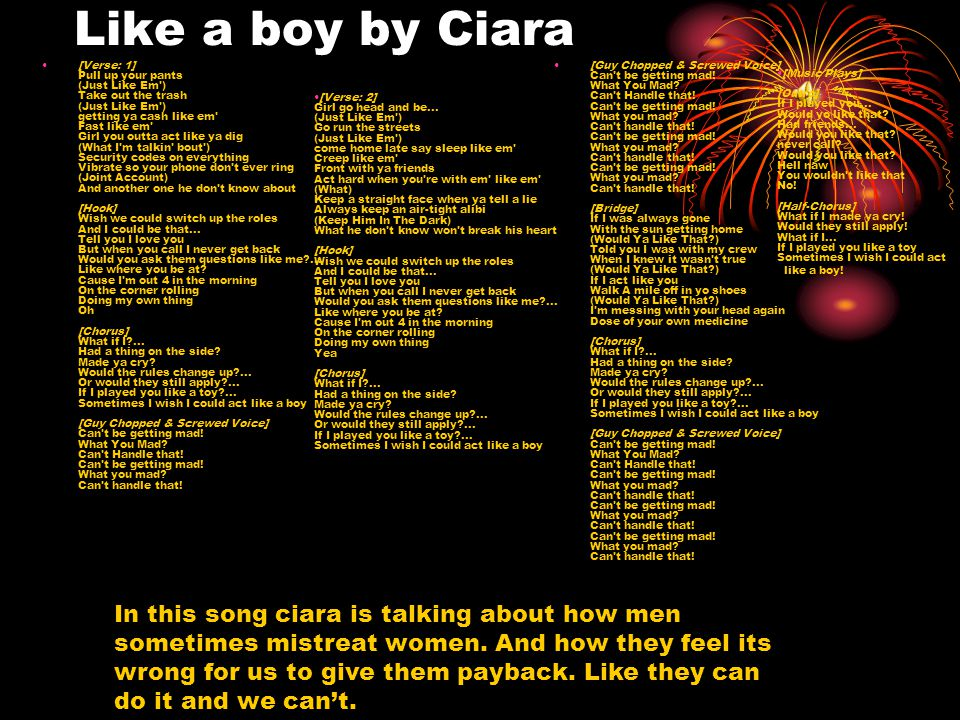 Like a boy by Ciara