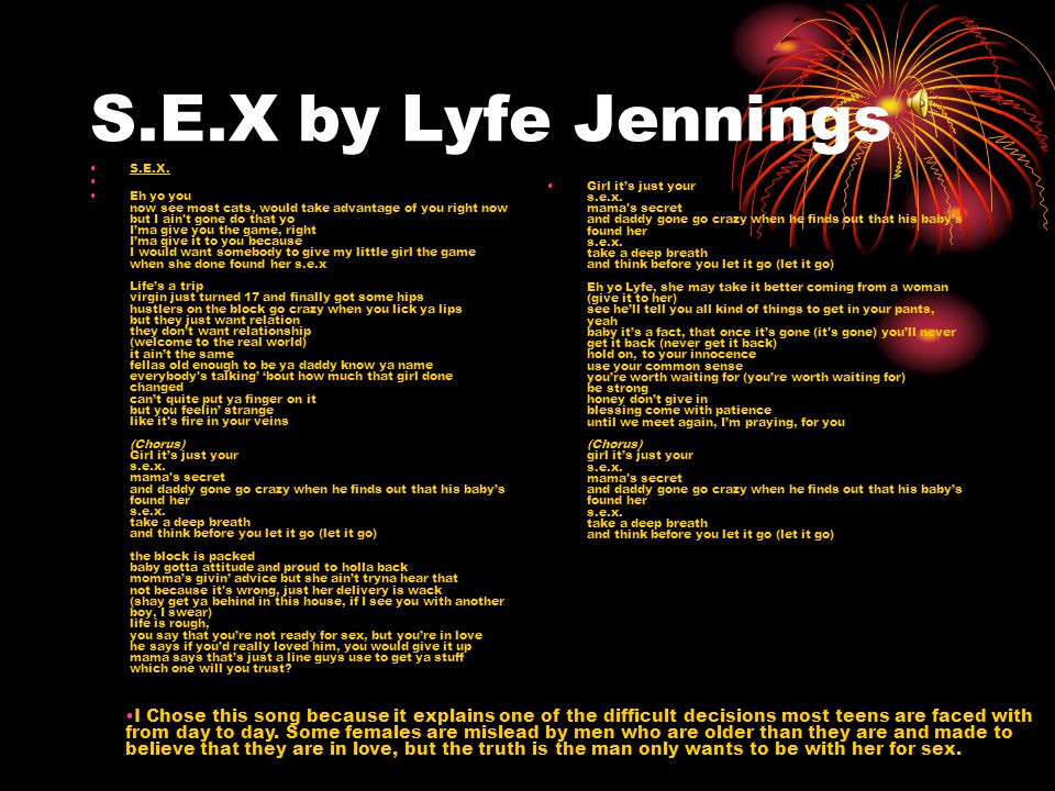 S.E.X by Lyfe Jennings S.E.X.