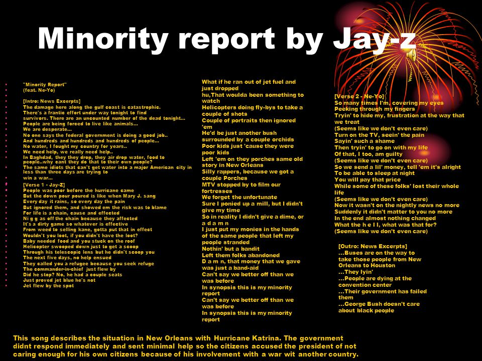 Minority report by Jay-z
