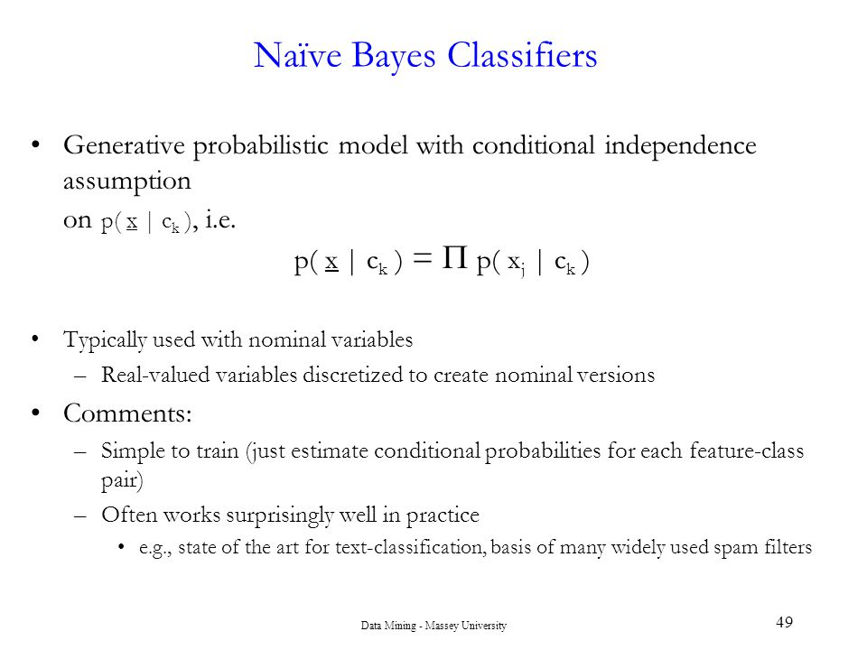 Naïve Bayes Classifiers