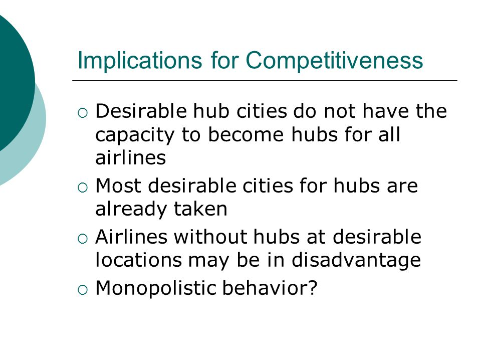 Implications for Competitiveness