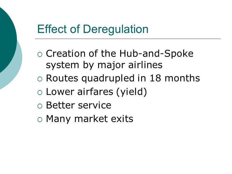 Effect of Deregulation