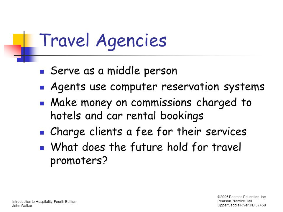 Travel Agencies Serve as a middle person