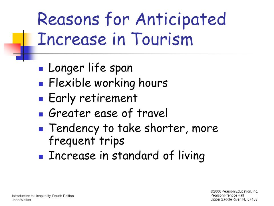 Reasons for Anticipated Increase in Tourism