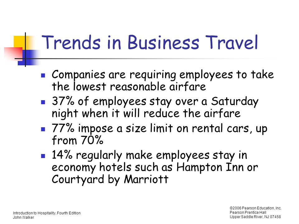 Trends in Business Travel