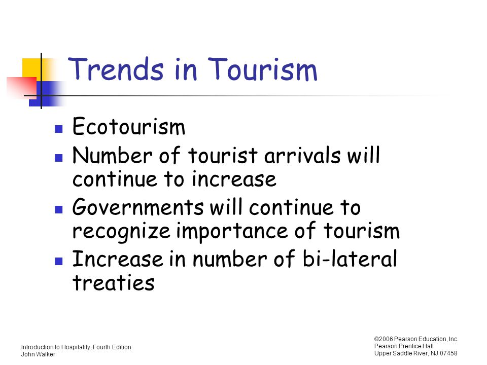 Trends in Tourism Ecotourism