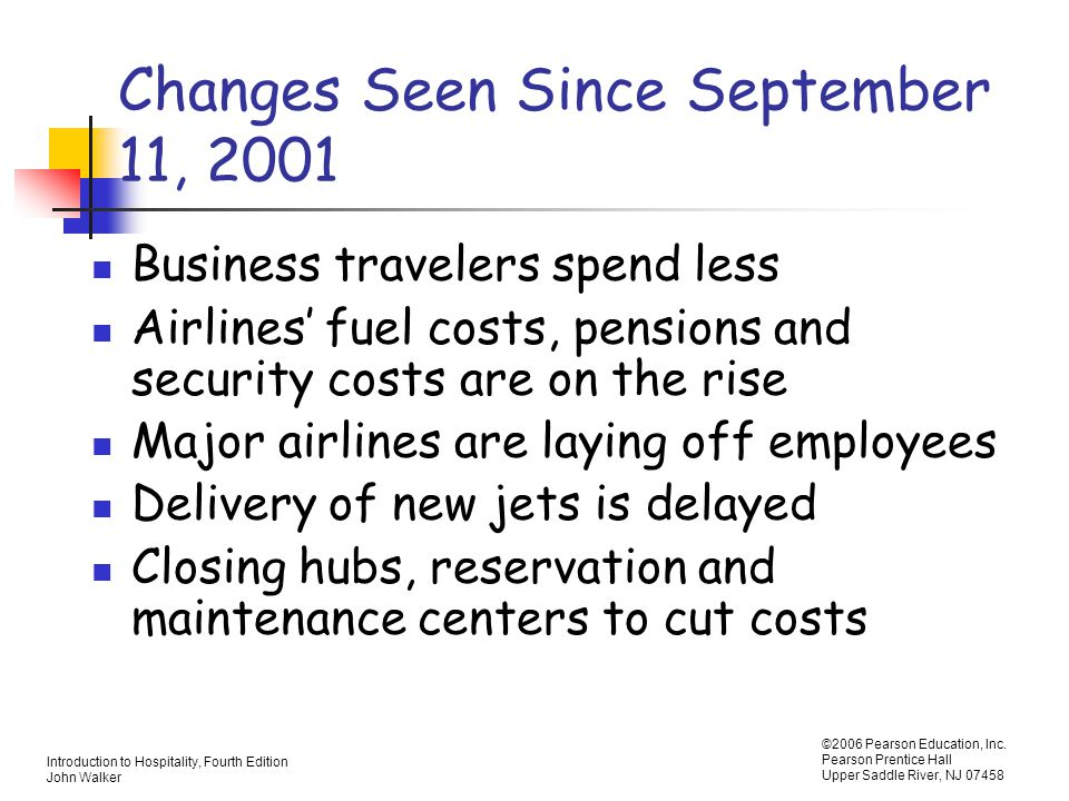 Changes Seen Since September 11, 2001