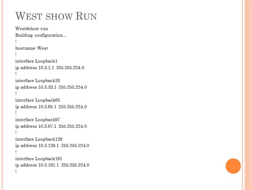 West show Run