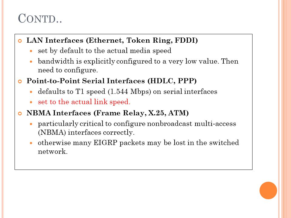 Contd.. LAN Interfaces (Ethernet, Token Ring, FDDI)