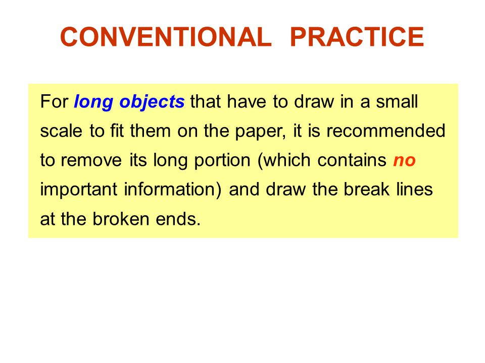 CONVENTIONAL PRACTICE