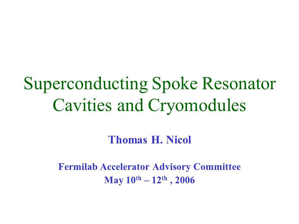 Superconducting Spoke Resonator Cavities and Cryomodules