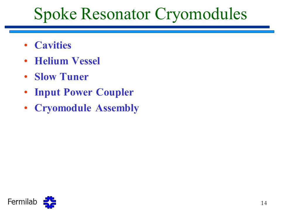 Spoke Resonator Cryomodules