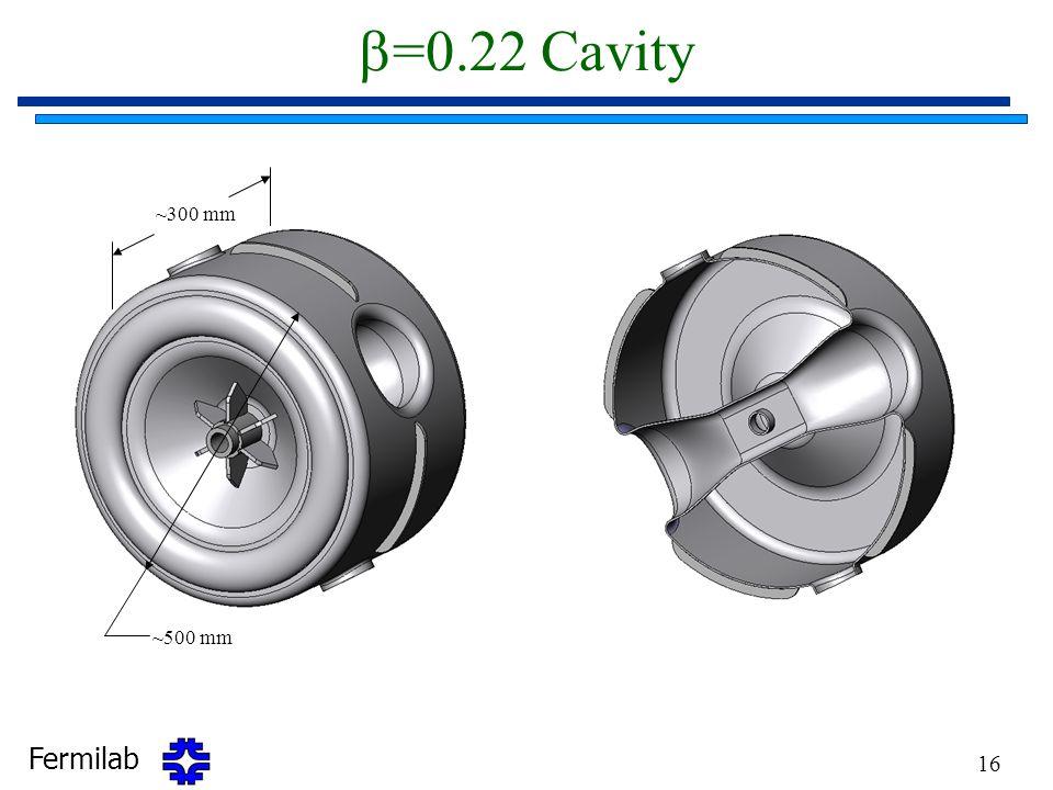 b=0.22 Cavity ~300 mm ~500 mm