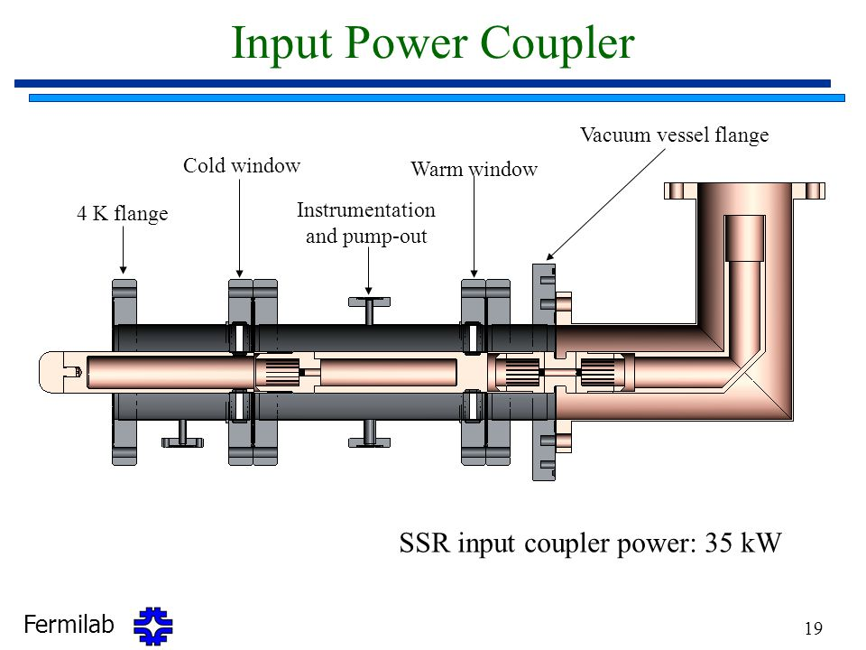 Input Power Coupler SSR input coupler power: 35 kW