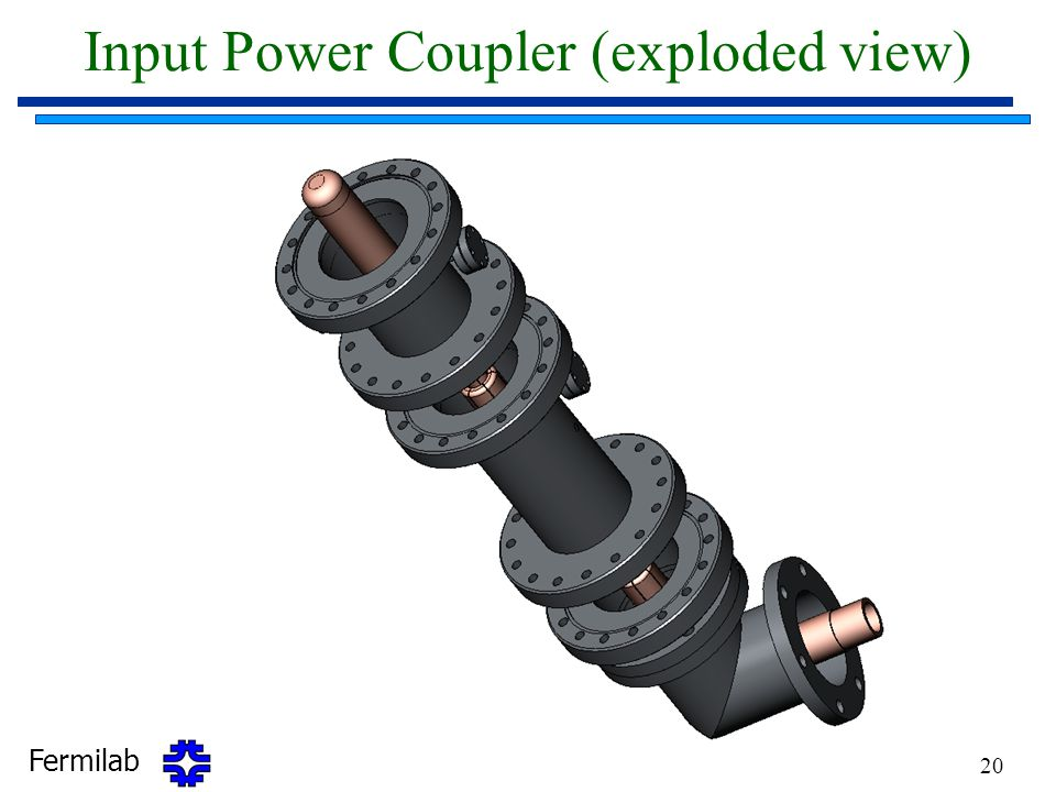 Input Power Coupler (exploded view)