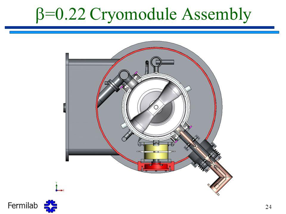 b=0.22 Cryomodule Assembly
