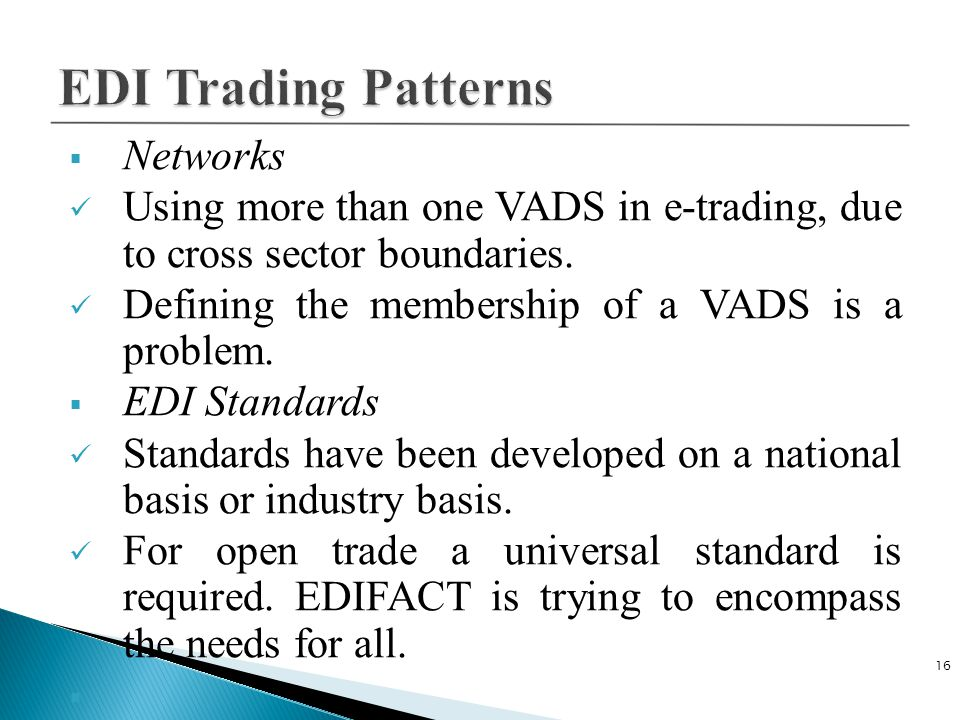 EDI Trading Patterns Networks