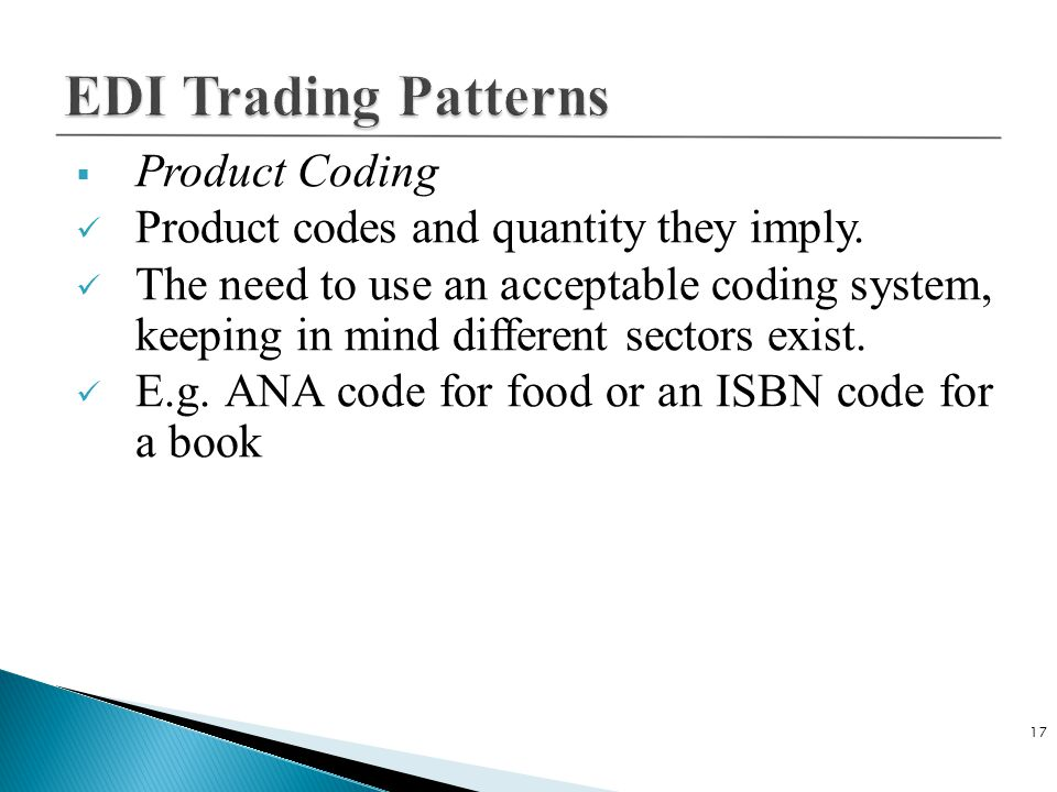 EDI Trading Patterns Product Coding