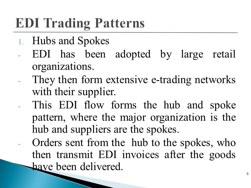 EDI Trading Patterns Hubs and Spokes