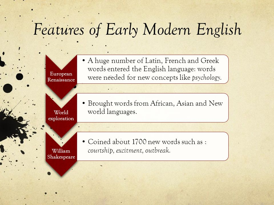 Features of Early Modern English