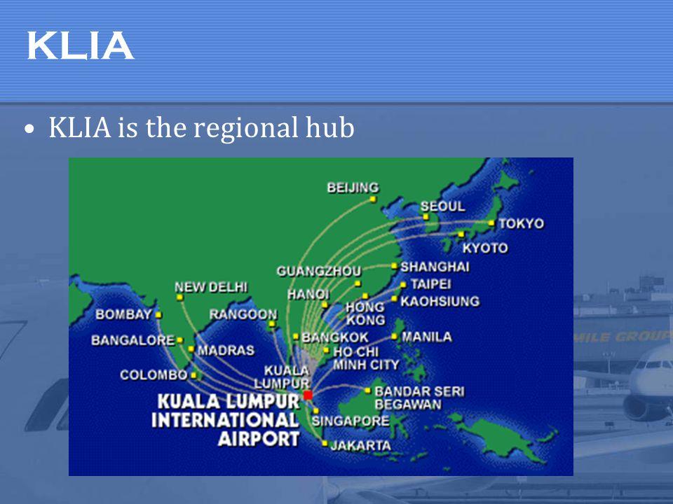 KLIA KLIA is the regional hub