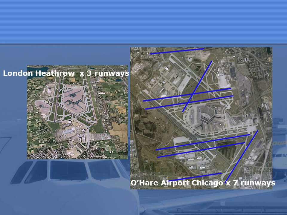 O'Hare Airport Chicago x 7 runways
