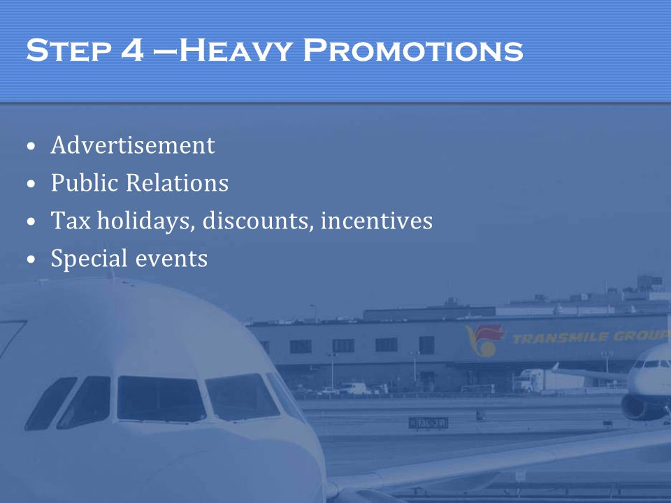 Step 4 –Heavy Promotions