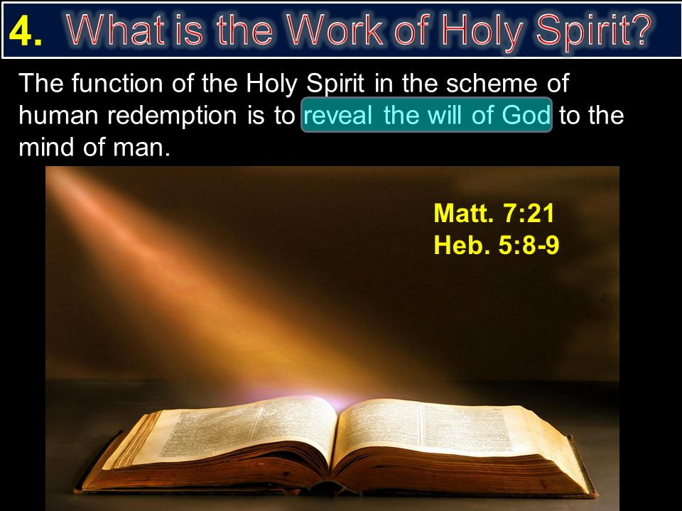 What is the Work of Holy Spirit