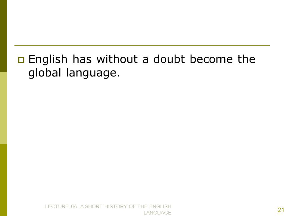 English has without a doubt become the global language.