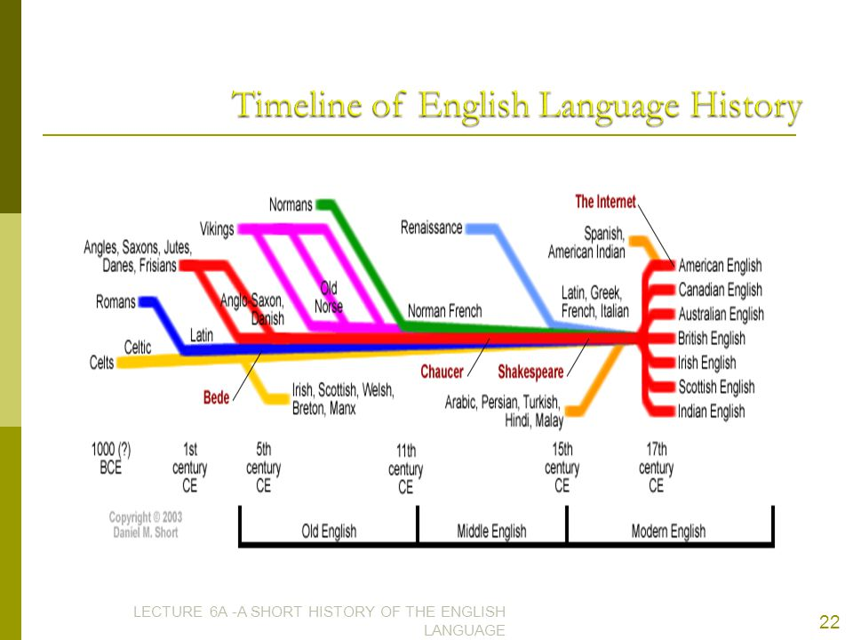 The evolution of enlish