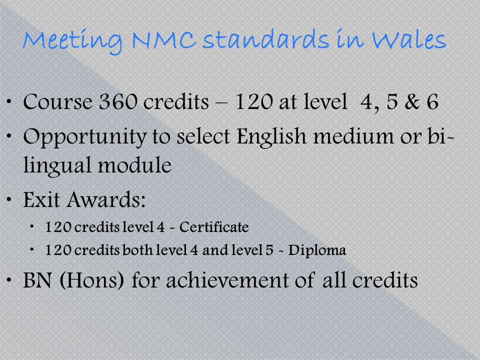 Meeting NMC standards in Wales