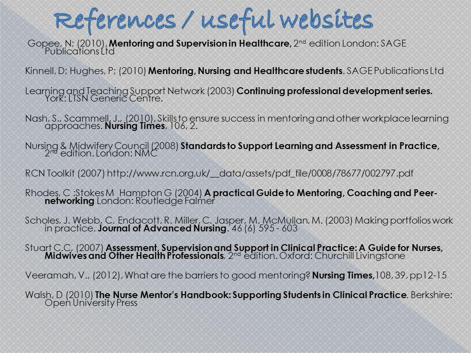 References / useful websites