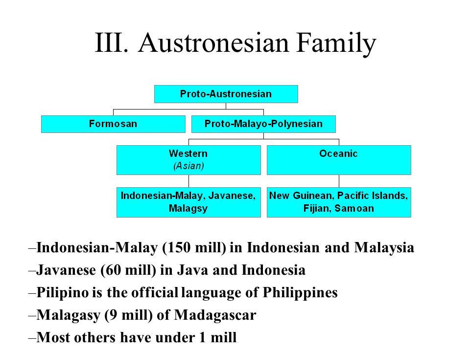 III. Austronesian Family