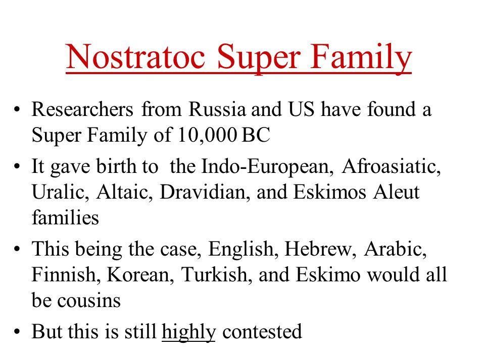 Nostratoc Super Family