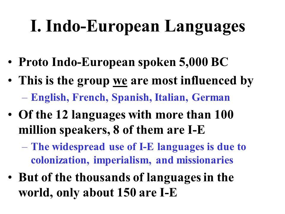 I. Indo-European Languages
