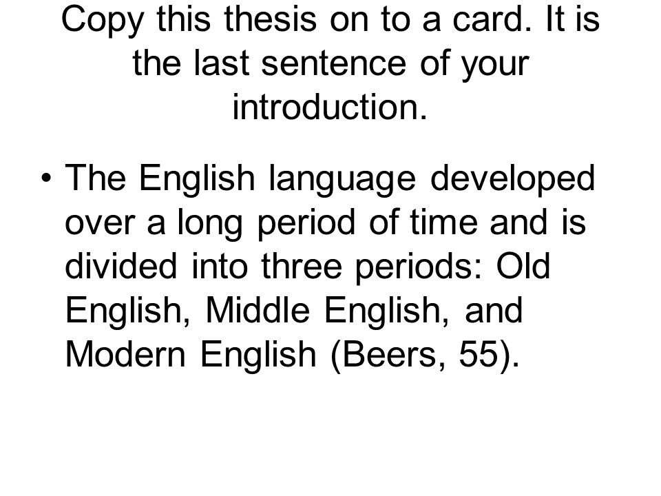 Dissertation On The English Language
