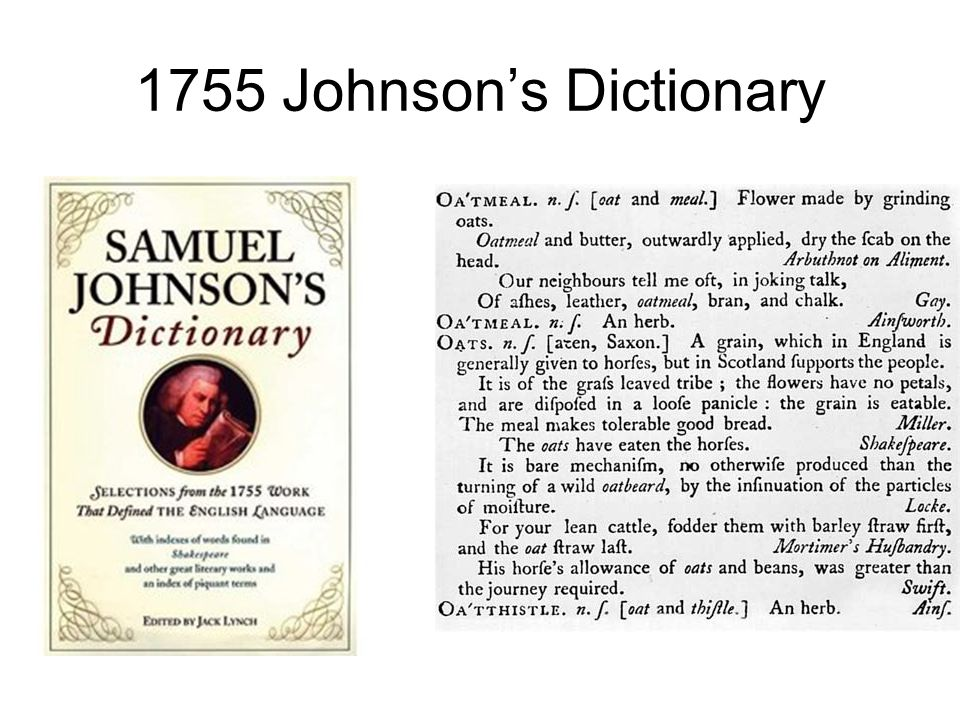 1755 Johnson's Dictionary
