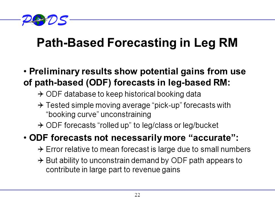 Path-Based Forecasting in Leg RM