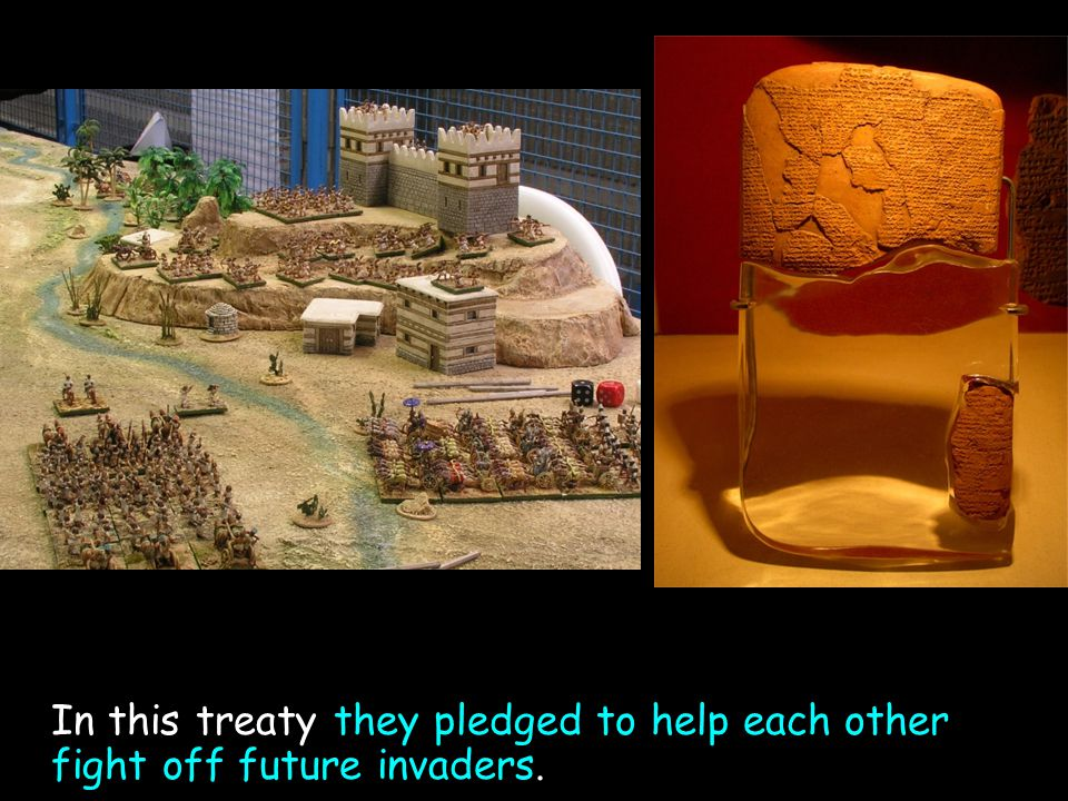 In this treaty they pledged to help each other fight off future invaders.