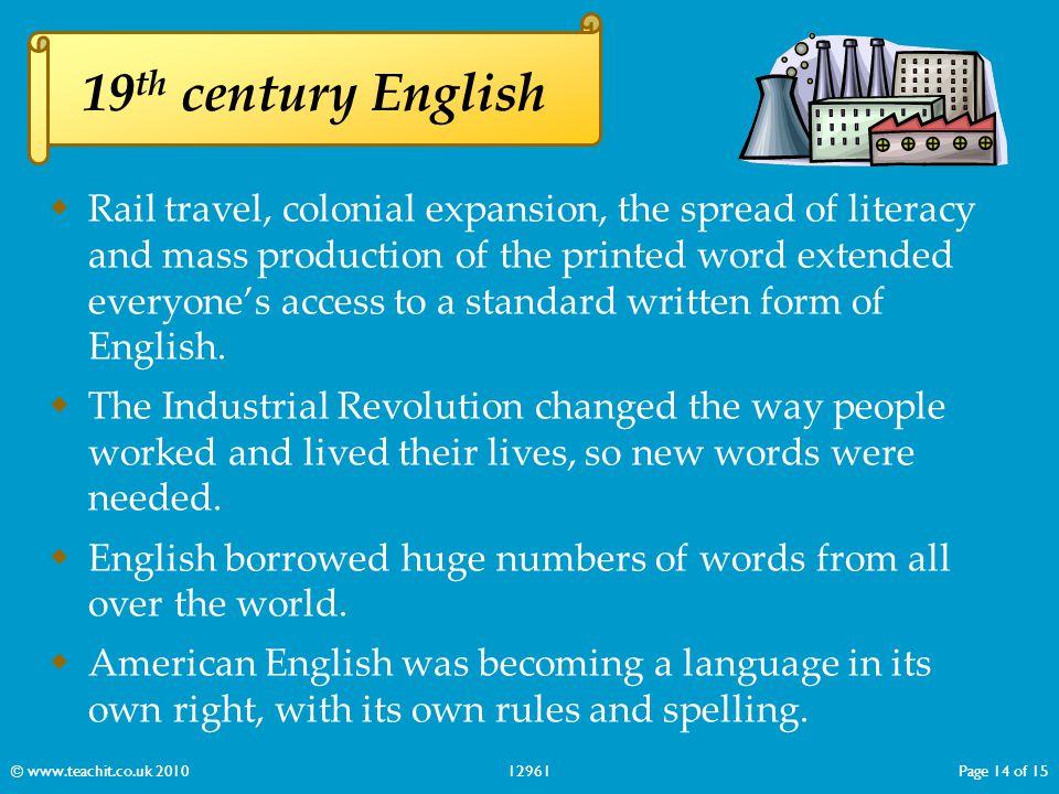 19th century English