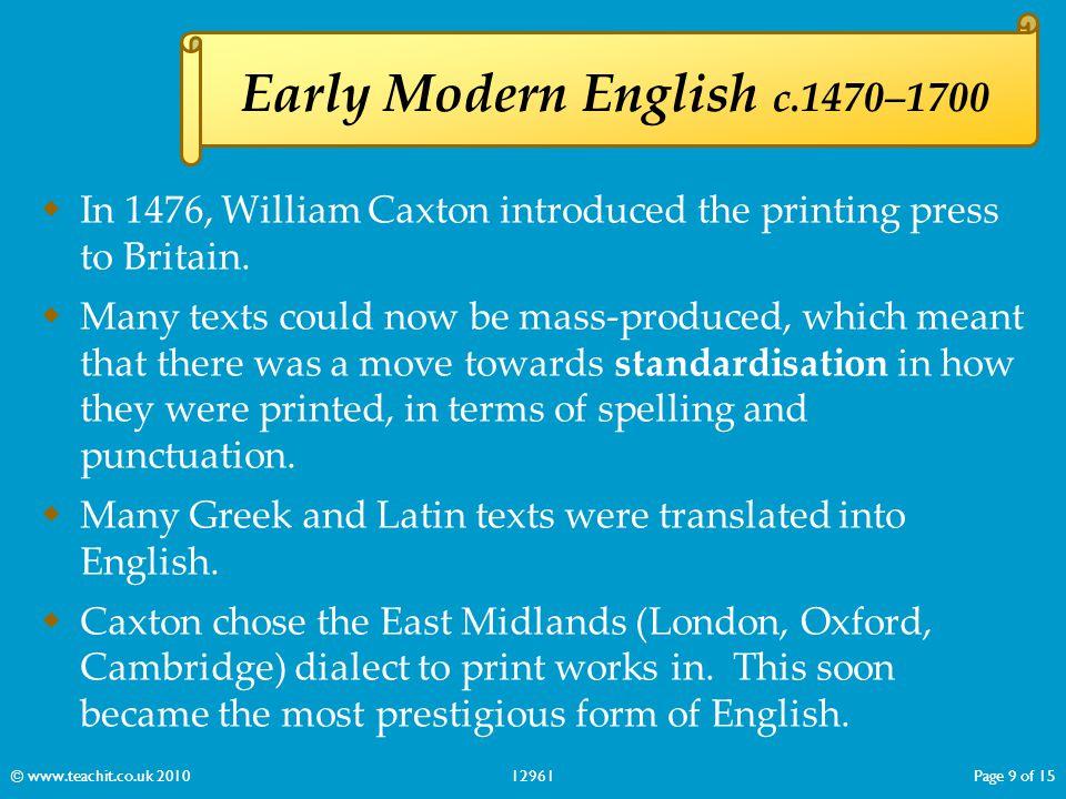 Early Modern English c.1470–1700