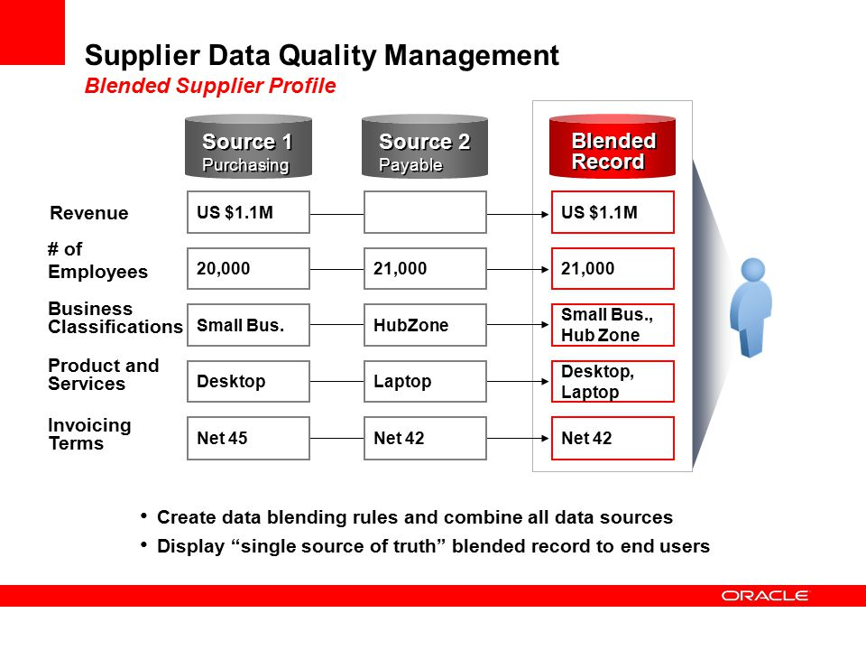Supplier Data Quality Management Blended Supplier Profile