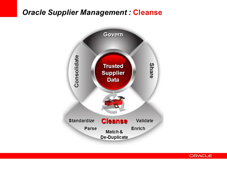 Oracle Supplier Management : Cleanse