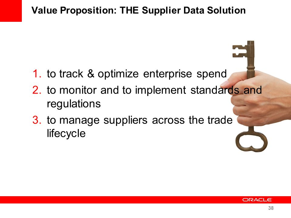 Value Proposition: THE Supplier Data Solution
