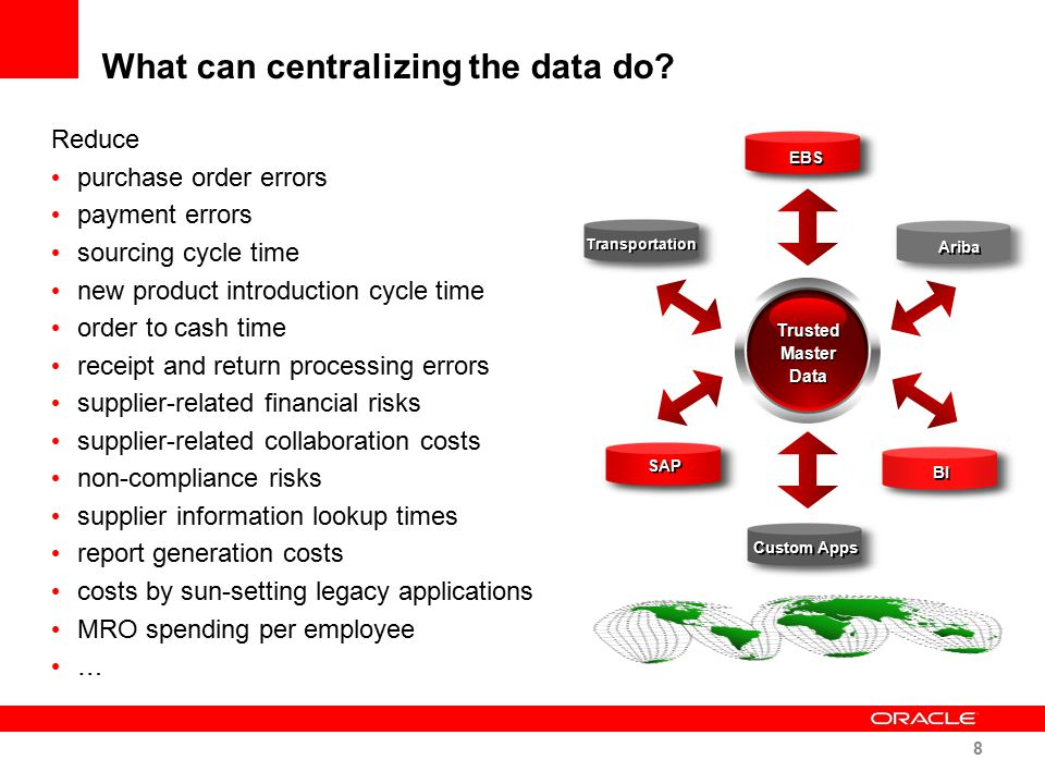What can centralizing the data do