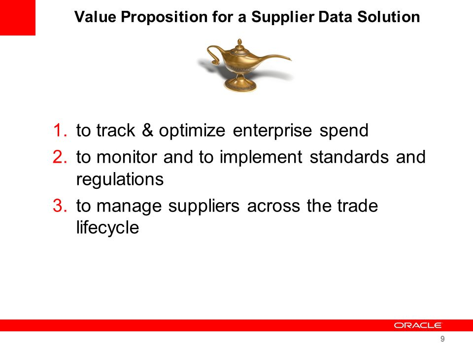 Value Proposition for a Supplier Data Solution