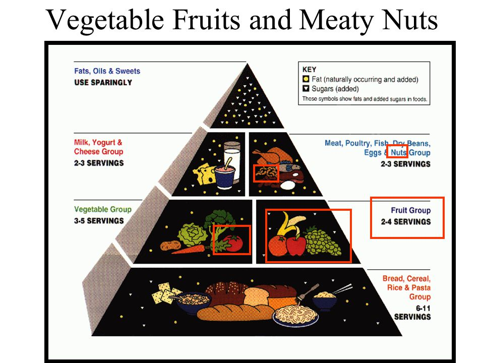 Vegetable Fruits and Meaty Nuts