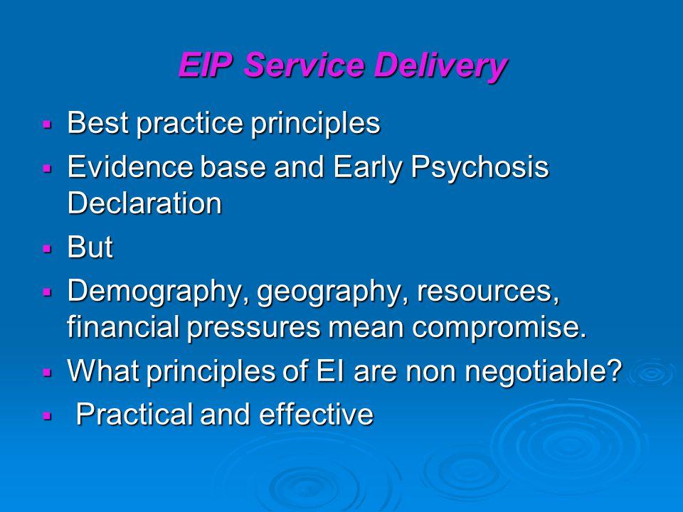 EIP Service Delivery Best practice principles