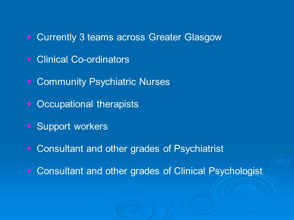 Currently 3 teams across Greater Glasgow